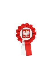Polish  Single Patriotic Rosette