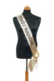 Satin Sash - golden