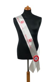 Satin Sash - white