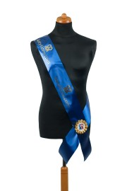 Satin Sash - blue